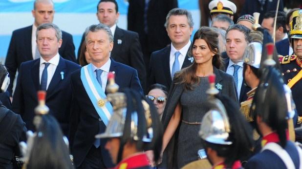 Juliana Awada se mantuvo fiel al protocolo (Foto: Maximiliano Luna)