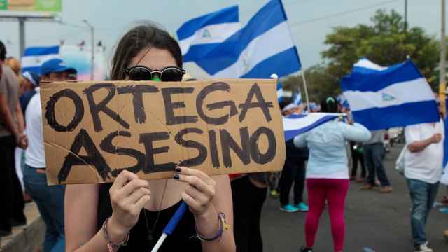 El régimen de Ortega reprimió brutalmente las manifestaciones.