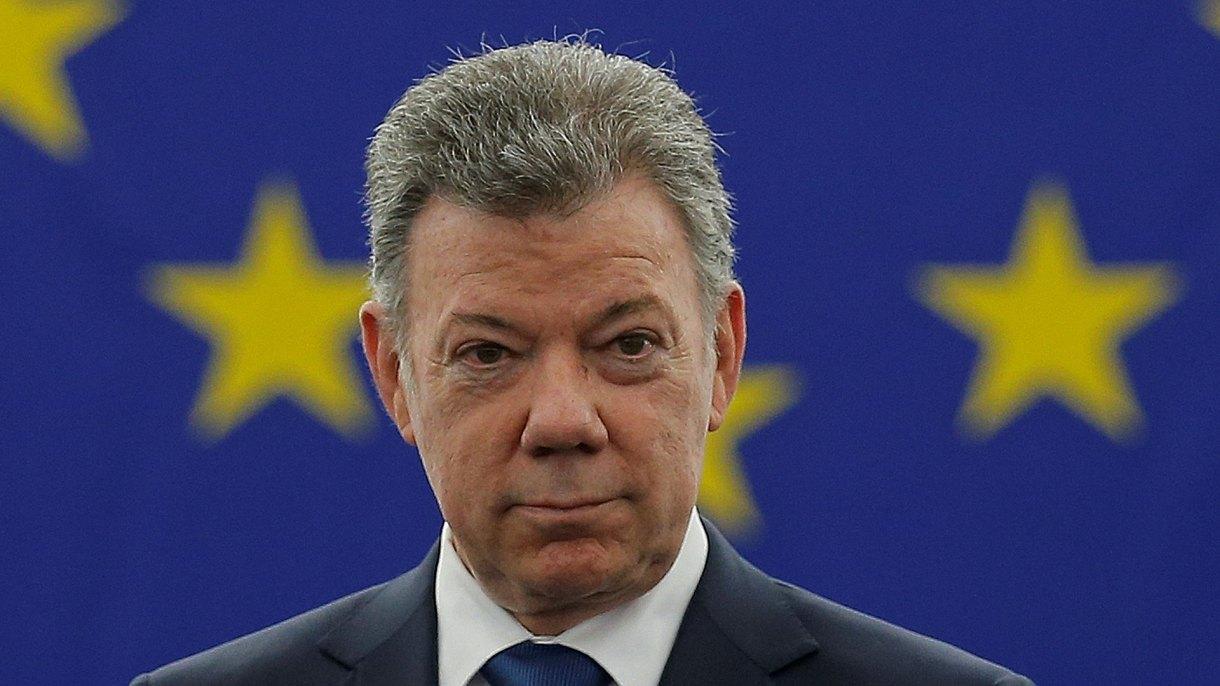 Expresidentede Colombia y nobel de paz, Juan Manuel Santos Calderón. (Reuters)