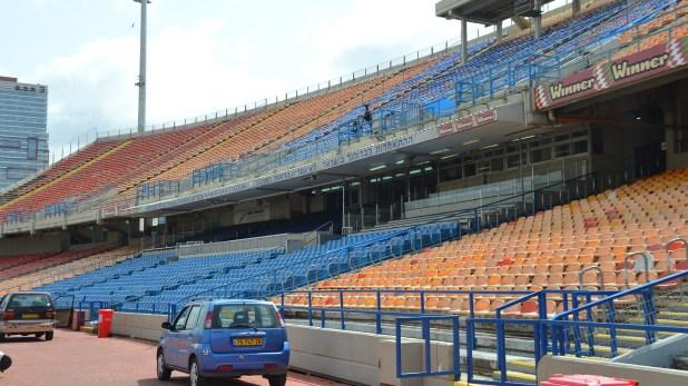 Las tribunas del estadio donde se disputó el encuentro entre Israel y Atlanta
