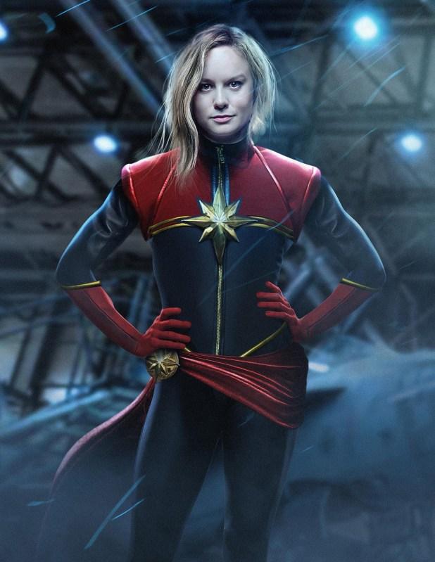 Brie Larson como la Capitana Marvel, la primera mujer en tener una película propia en Marvel/Disney