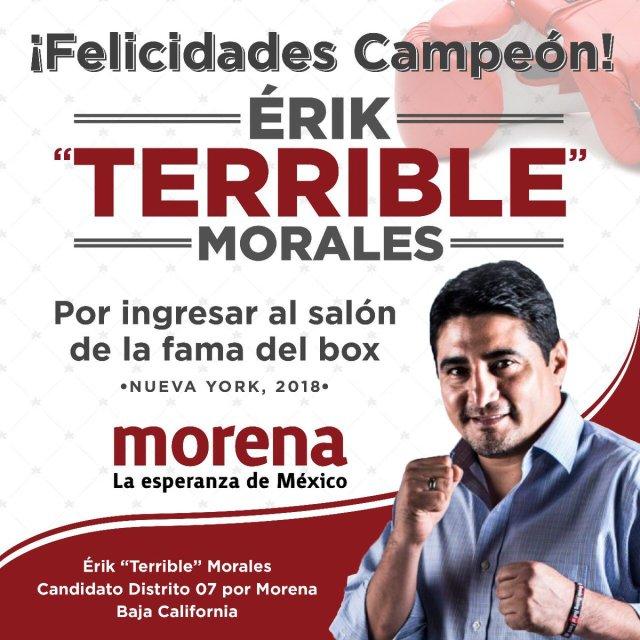 Erik Morales es candidato de Morena a diputado federal