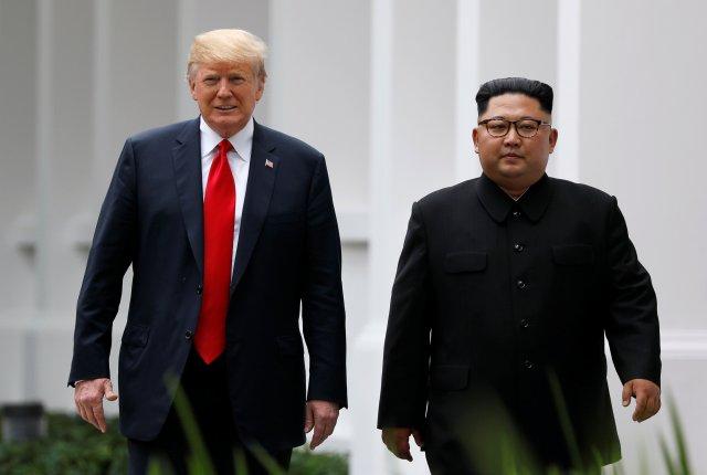 Trump y Kim. REUTERS/Jonathan Ernst