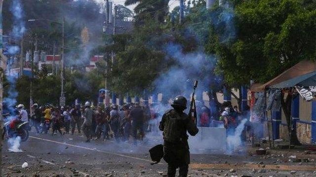 Represión a las protestas en Nicaragua