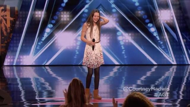 Courtney Hadwin deslumbró al jurado de America's Got Talent