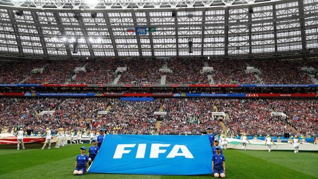 Inauguración del mundial, partido entre Rusia vsArabia Sauditaen el estadioLuzhniki. (REUTERS/Kai Pfaffenbach)