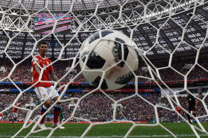 Imagen del segundo gol de la Copa del Mundo, convertido por el zurdo Cheryshev, surgido en la cantera del Real Madrid