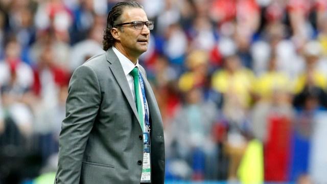 La incredulidad de Pizzi durante la goleada recibida en el debut(AP Photo/Antonio Calanni)