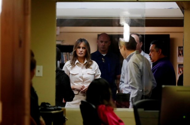 Melania Trump en Texas (Reuters)