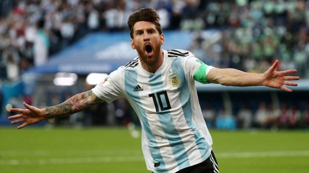 El festejo de su gol ante Nigeria en el Mundial de Rusia (Reuters)