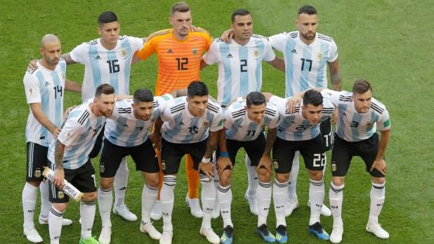 El equipo argentino en el duelo ante Francia
