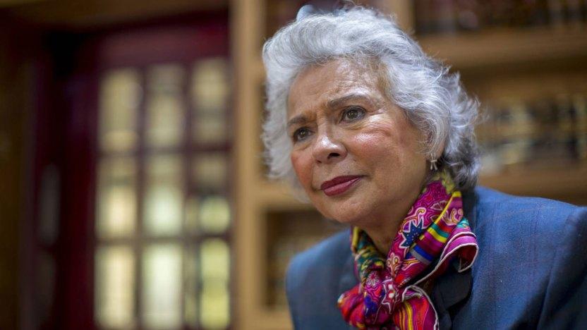 Olga Sánchez Cordero, próxima secretaria de Gobernación y todavía senadora de Morena.