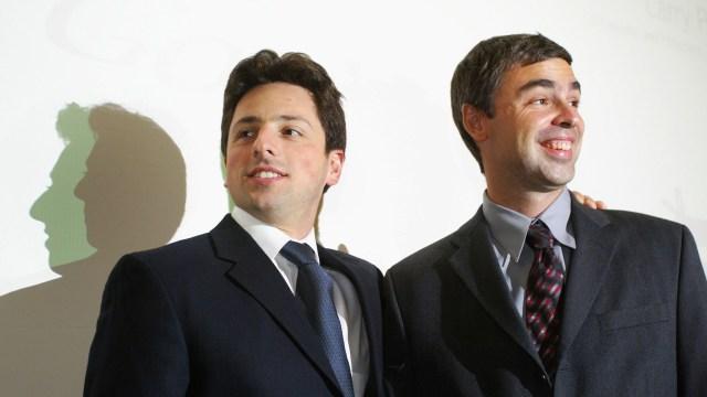 Larry Page y Sergey Brin, creadores de Google.
