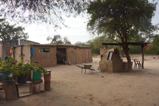 La casa de uno de los pobladores del paraje La Armonía (Raquel Peiro)