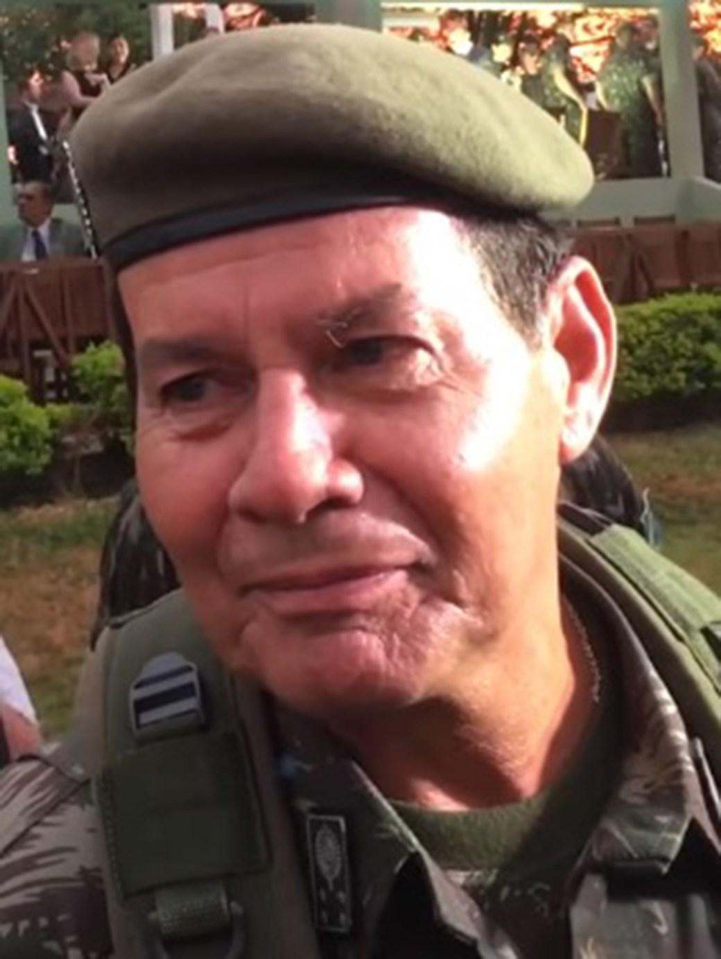 El ex general del ejército retirado en 2017, Antonio Hamilton Mourao (Wikipedia)