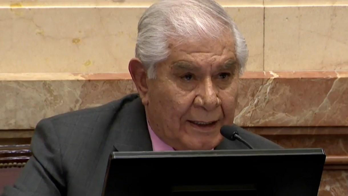 El senador del MPN, Guillermo Pereyra,líder sindical del gremio petroleros