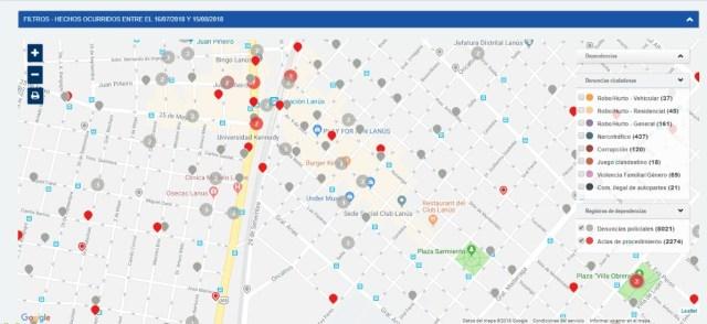 El mapa del delito que busca implementar el Gobierno