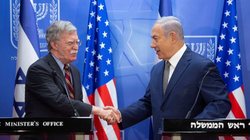 John Bolton se reunió con Benjamin Netanyahu (Reuters)