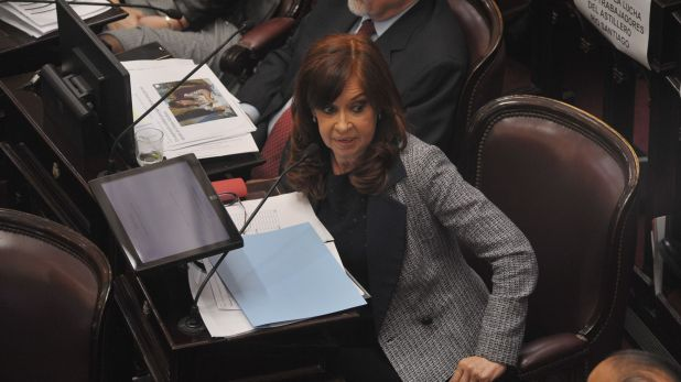 Cristina Kirchner durante el debate por sus allanamientos (foto Patricio Murphy)