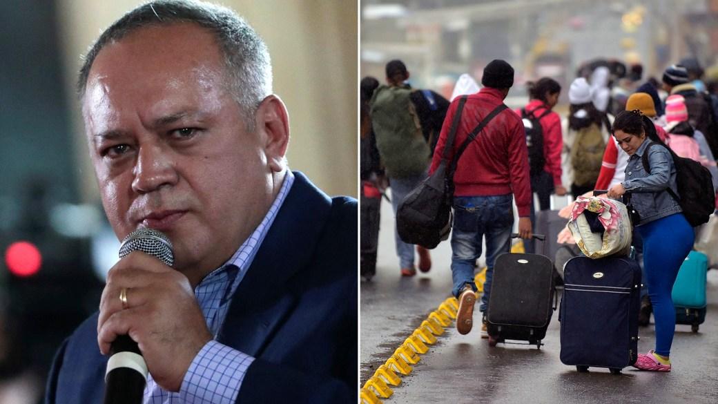 Diosdado Cabello cuestionó las imágenes del éxodo masivo de venezolanos