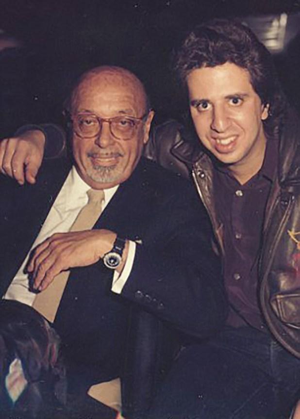 Ahmet Ertegun con Jason Flom