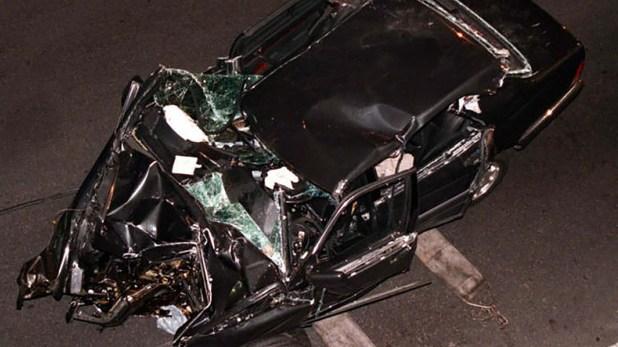 Así quedó el auto de Lady Di tras el choque en París