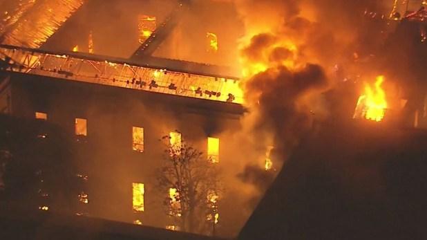 La destrucción causada por el incendio en el Museo Nacional de Río de Janeiro