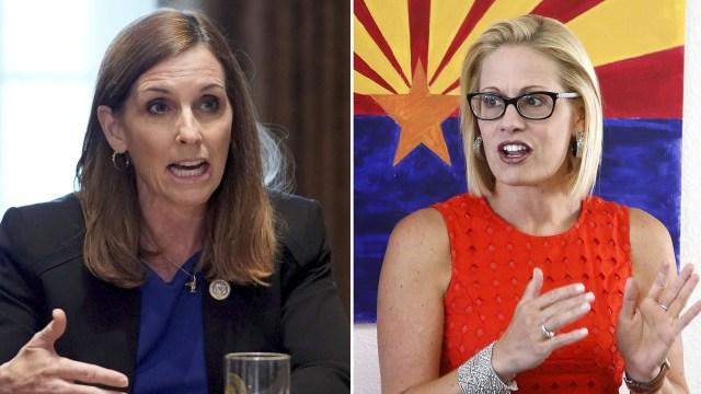 Martha McSally (Republicana) parecía tener asegurada la banca por Arizona, pero Kyrsten Sinema(Demócrata) tomó la delantera en el recuento de votos