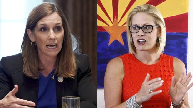 Dos congresistas de Arizona compiten por pasar al Senado: Martha McSally y Kyrsten Sinema.
