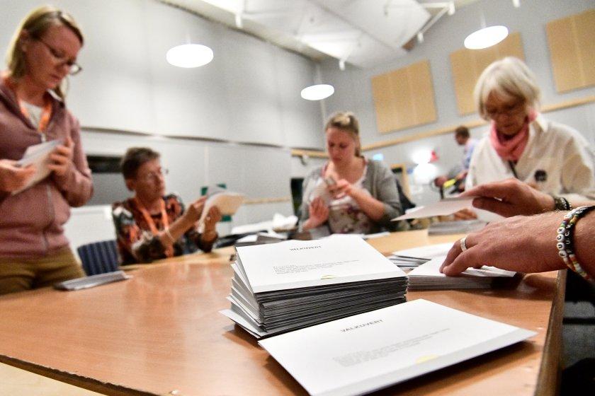 Las operaciones de voto enMalmo, Suecia (TT News Agency/Johan Nilsson via REUTERS)
