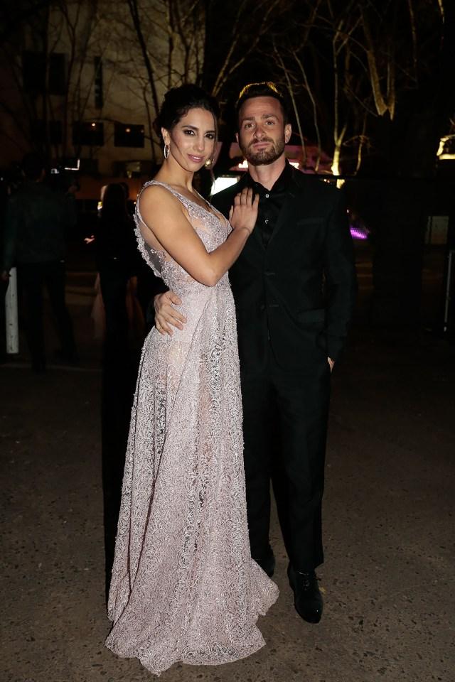 Cinthia Fernández y su novio Martín Baclini
