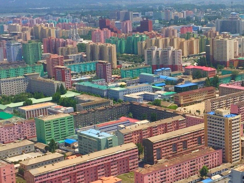 Vista panorámica de Pyongyang desde la Torre Juche (Foto: Florencia Grieco – @flowergrieco)