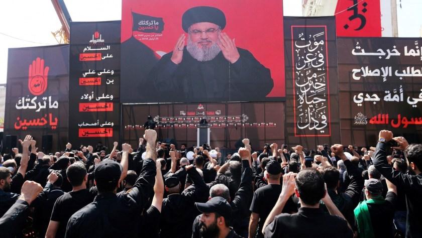 Hassan Nasrallah, en un discurso ante sus seguidores (Reuters)