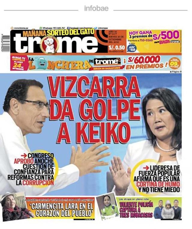 Trome Perú Viernes 21 De Septiembre De 2018 Debate De Noticias