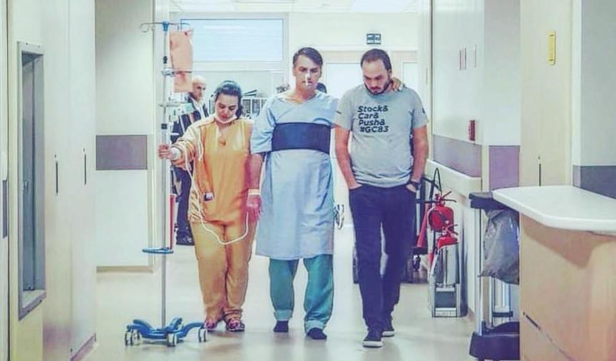 Jair Bolsonaro en el hospital en el que se recupera de un ataque con cuchillo