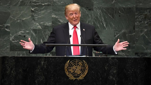 Donald Trump en la ONU (AFP)