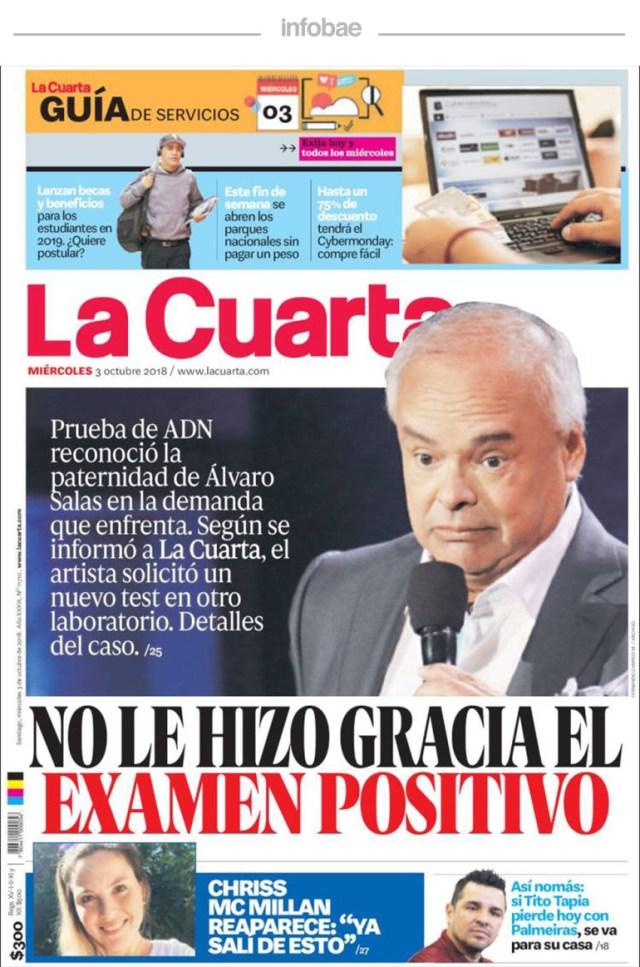 La Cuarta, Chile, 4 de octubre de 2018 – Debate De Noticias