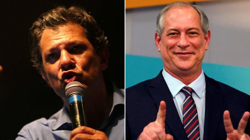 Fernando Haddad y Ciro Gomes