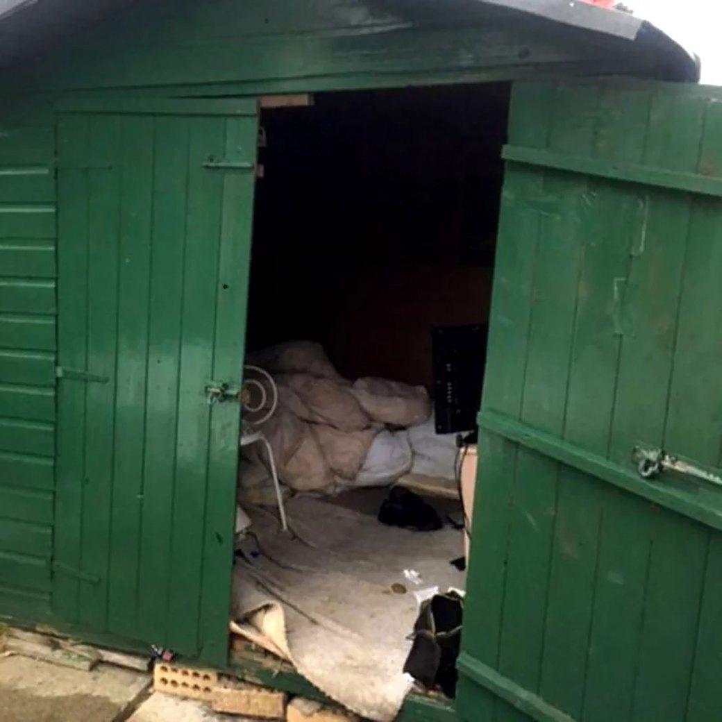 La casilla donde fue hallado el hombre presuntamente esclavizado en Carlisle