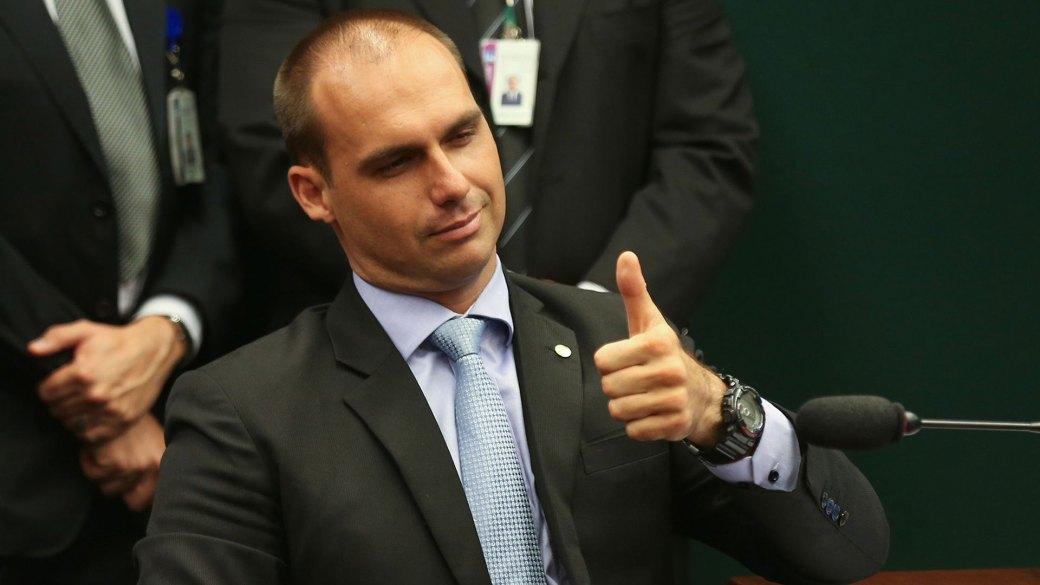 Eduardo Bolsonaro consiguió un resultado récord en San Pablo