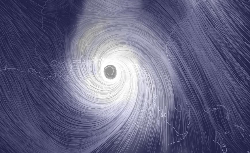 Gráfico del movimiento del huracán Michael que se acerca a las costas del norte de Florida.