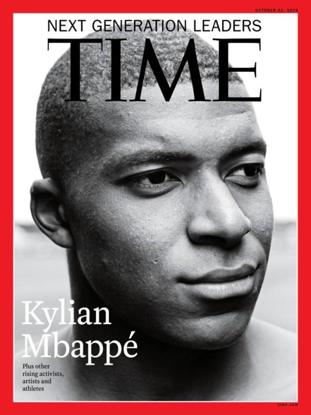 Kylian Mbappé, tapa de la revista Time