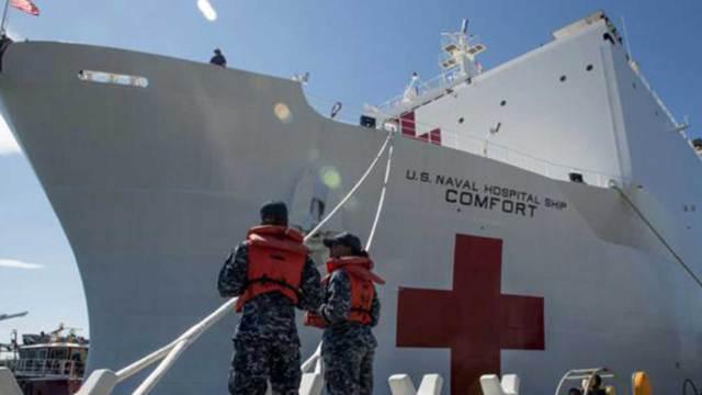 El buque hospital estadounidense