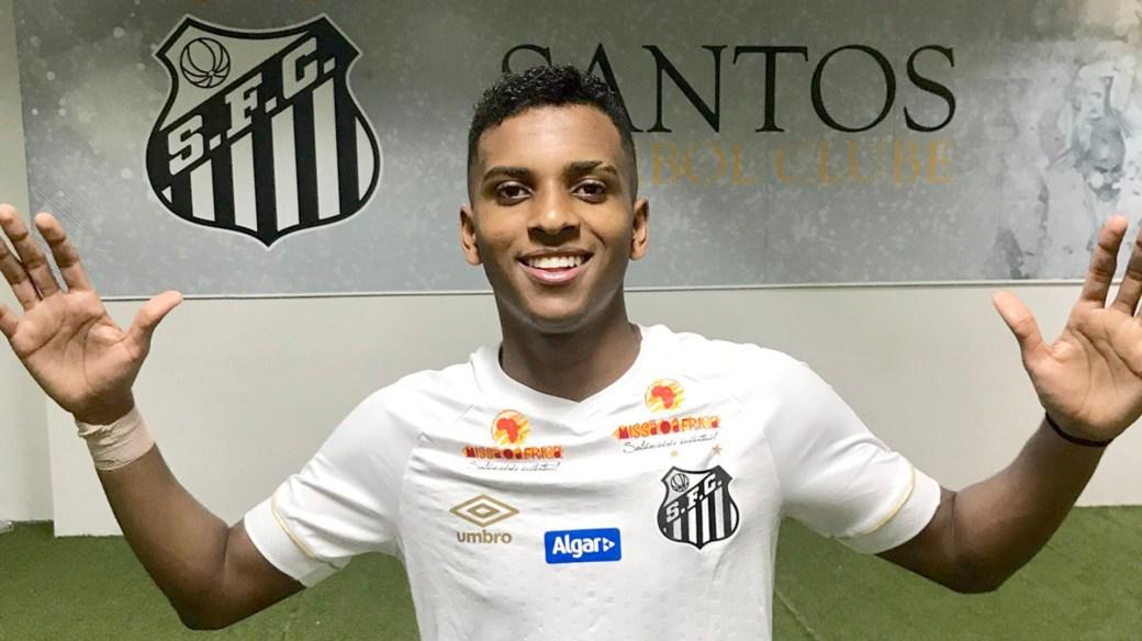 Rodrygo, jugador del Santos FC, ya fue pescado por el Real Madrid (@SantosGigante95)