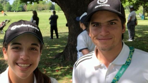 Ela Anacona y Mateo Fernandez de Oliveira se subieron al podio en golf
