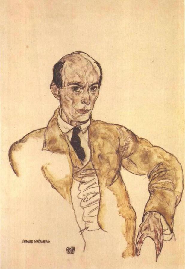 Retrato de Arnold Schönberg por el pintor austríaco Egon Schiele