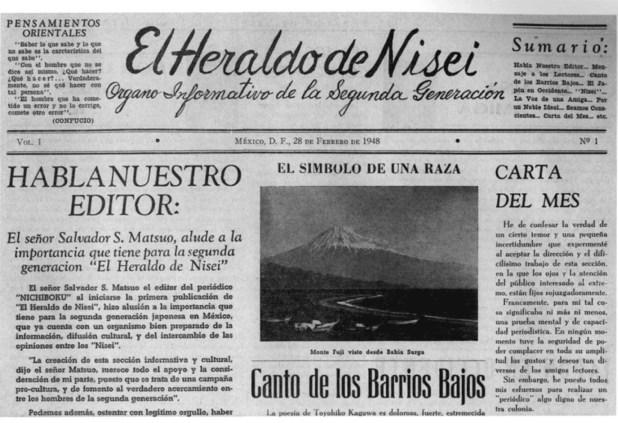 Los japoneses editaban en México un periódico para su comunidad.