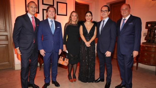 Javier Iturrioz, Leopoldo Montes, Verónica Zoani de Nutting, Carminne Dodero, el embajador Zevelakis y Martín Cabrales