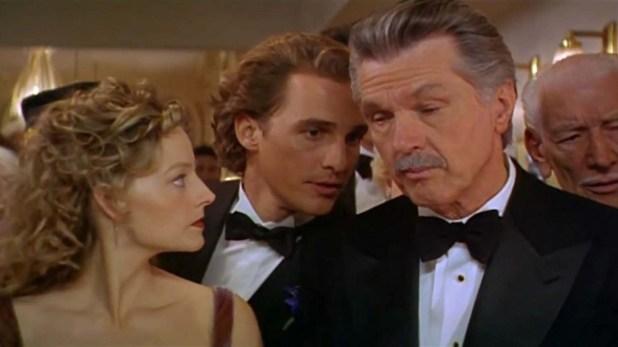 """Matthew McConaughey, Jodie Foster y Tom Skerritt en """"Contact"""" (1997)"""