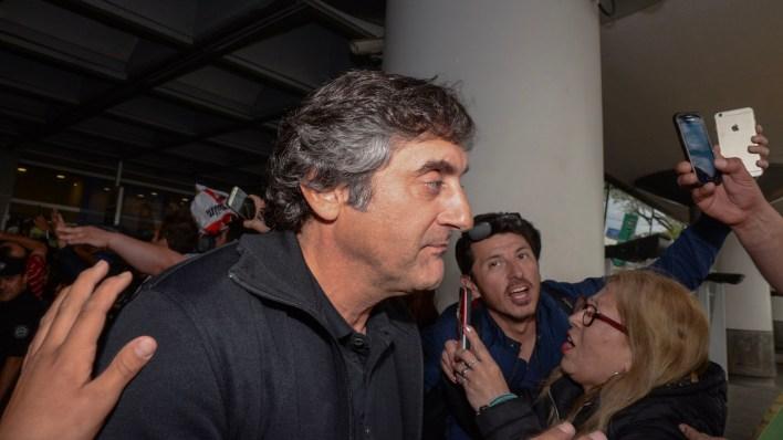 Enzo Francescoli viajó con la delegación como dirigente (Julieta Ferrario)